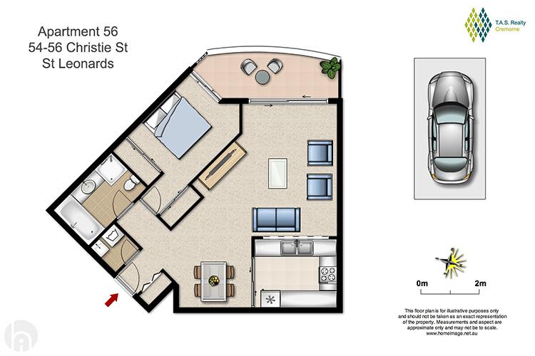 Sale apartment st leonards 54 christie street for Kirribilli house floor plan